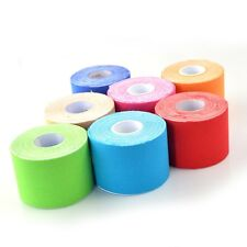 Cotton Cloth Therapy Muscle Care Elastic Physio Therapeutic Kinesio Tape 5mx5cm