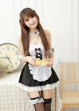 Sexy Japanese Girl's Maid Lolita Uniform Halloween Costume Dress Cosplay Outfit