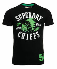New Mens Superdry Factory Second Vintage Icon Chiefs T-Shirt Black