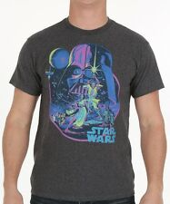 Mens Star Wars Charcoal Acid Dawn T-Shirt