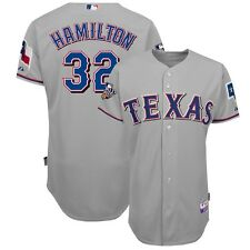 Josh Hamilton 2010 Texas Rangers Authentic World Series Grey Road Jersey