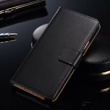 New Luxury Genuine Leather Flip Card Wallet Case Cover For Samsung Galaxy Note 4