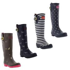 New Joules Welly Print Womens Classic Tall Wellington Boots Ladies Sizes UK 4-8
