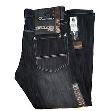 SOUTHPOLE MENS JEAN RELAXED FIT 4180-2146 RAW BLACK SAND