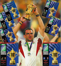 2003 ENGLAND RUGBY WORLD CUP ORIGINAL PROGRAMMES ALL MATCHES INCLUDING FINAL