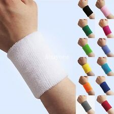 Sports Basketball Unisex Cotton Sweat Band Sweatband Wristband Wrist Band Hot