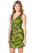 Love Moschino Floral Lace Dress Green Black Studded Wrap Mini Sleeveless NEW