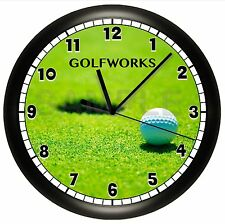 GOLF BALL WALL CLOCK SPORTS BEDROOM DECOR TEAM BALL GIFT PERSONALIZED CUSTOM