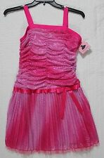 NEW AMYS CLOSET GIRLS DRESS SHINY PINK NWT $60 PLUS SIZE 18.5