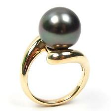 Top Quality 12-13mm Tahitian Black Pearl Ring 14K Yellow Gold or 14K White Gold
