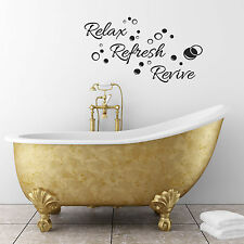 Relax, Refresh, Revive Bathroom Wall Sticker with approx 20 Bubble Stickers