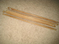 """Premium12 size  Bamboo double ended Tunisian Afghan crochet hooks (10""""or13"""" set)"""