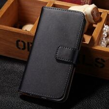 Luxury Genuine Real Leather Flip Card Wallet Case Cover Skin For Apple iPhone 5C