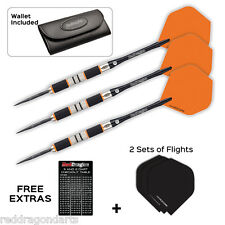 Amberjack 90% Tungsten Steel Darts with Flights, Shafts, Case & RD Checkout Card