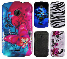 For ZTE Whirl 2 Z667 HARD Protector Case Snap On Phone Cover + Screen Guard