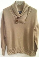 BILLS KHAKIS Mens 2-Button Shawl Collar Pullover Sweater USA MSRP $275 NWOT