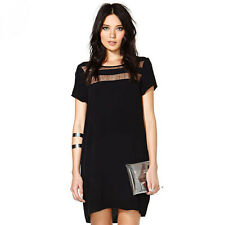 New Sexy Women Casual Short Sleeve Party Evening Cocktail Short Mini Dress