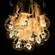 50 Foot Outdoor Globe Patio String Lights - Set of 50 G30 Clear Bulb