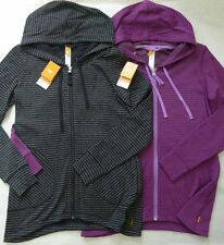 NWT LUCY  XS/S BETWEEN THE LINES Full Zip Hooded Jacket w/Pockets &Thumbholes