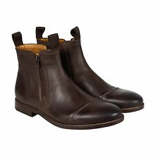 Clarks Novato Zip Mens Brown Leather Casual Dress Zip Up Boots Shoes