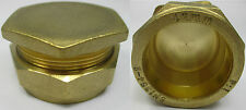 BRASS COMPRESSION FITTINGS STOP END CAP BLANK 8 10 12 15 22 28 35 42 54 mm BSP