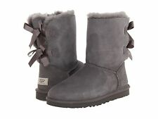 NIB Women's UGG BAILEY BOW Size 8 GRAY Boots - 1002954