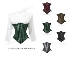 26 Double Steel Boned Waist Training Brocade Underbust Shaper Corset #9933-STR