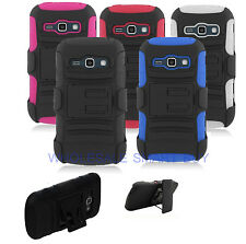 FOR SAMSUNG GALAXY CORE PRIME G360 RUGGED ARMOR CASE COVER BELT CLIP HOLSTER