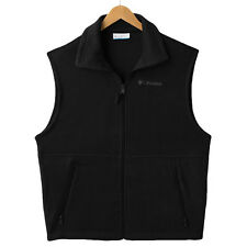 Columbia Black Fleece Vest  Zip Front-2 Pocket Size M & L & XL & XXL Men's