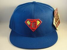 MLB Detroit Tigers American Needle Superman Fitted Hat Cap Blue