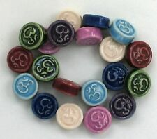 Hand Painted Ceramic Beads, Aum Colors Design, New