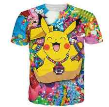 Dumpy Pokemon Pikachu 3D fun T-shirt tee tops