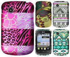 For TracFone LG 306G Rubberized Hard Protector Case Phone Cover + Screen Guard