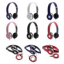 Plegable Micrófono Auriculares Casco Estéreo para PC iPhone iPad Samsung MP3 PSP