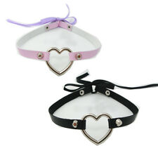 Heart Choker Lace Punk Emo Studded Faux Leather Fashion Collar Necklace 4 Colors
