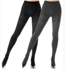 NEW ~ ASSETS by SPANX REVERSIBLE SHAPING TIGHTS ~ Black/Dark Grey ~ 1602