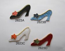 #2623 FASHION LADY HIGH HEEL SHOE,FLOWER,SHOPPING LADY APPLIQUE PATCH