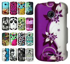 For ZTE Whirl 2 Z667 Rubberized HARD Case Snap On Phone Cover + Screen Guard