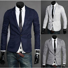 Mens Top-Design Casual Slim Fit One Button suit Coat Jacket Blazers 2015-WYQCD1