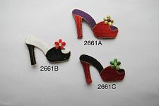 #2661 LADY SHOPPING,FASHION HIGH HEEL SHOE APPLIQUE PATCH