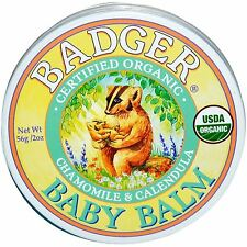 Badger Certified Organic Baby Balm Natural Soothing Protection .75 oz or 2 oz