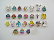 Holiday Floating Charms for Lockets - EASTER - eggs, baskets, bunnies