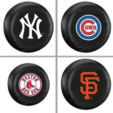 Choose MLB Team Heavy Black Vinyl Spare Tire Cover  - Standard Size Up to 29""