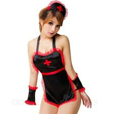 Womens Costumes Sexy Outfit Babydoll Adult Backless Nurse Fancy Dress