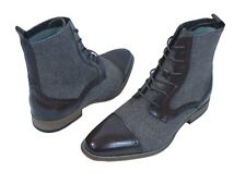 Men's Dress Casual Boots GIOVANNI 6485 Ch. Brown & Ch. Brown/Beige Leather Tweed
