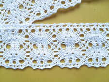 "Quality WHITE Cotton Nottingham Lace 1.75""/4.5 cm  Crafts/Linens/Crochet/Trim"