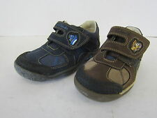 BOYS CLARKS BIG GRIPPA LEATHER CASUAL SHOES WITH RIPTAPE STRAP STYLE STONE MOVER