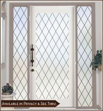 ORLEANS Privacy Leaded Frosted Glass Look Window & Door Film Static Cling 6Color