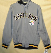 NFL Pittsburgh Steelers Soft Shell Hooded Jacket Zipper Hoodie Embroidered Logo