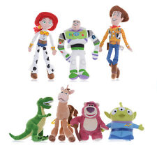 "Disney Toy Story 3 Figure Dolls 8"" Plush Woody Buzz Jesse Rex Lotso Bullseye"